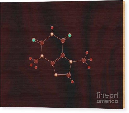 Chocolate Molecule Wood Print