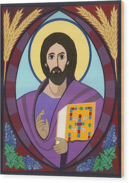 Christ Pantokrator Icon Wood Print by David Raber