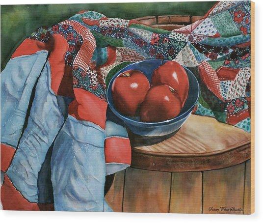 Christa's Quilt Wood Print