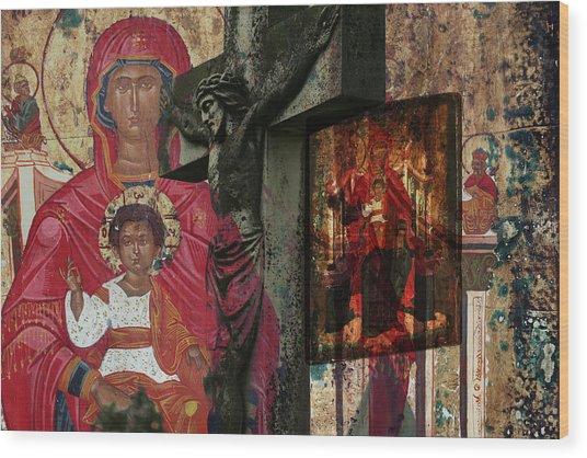 Christian Symbols Wood Print
