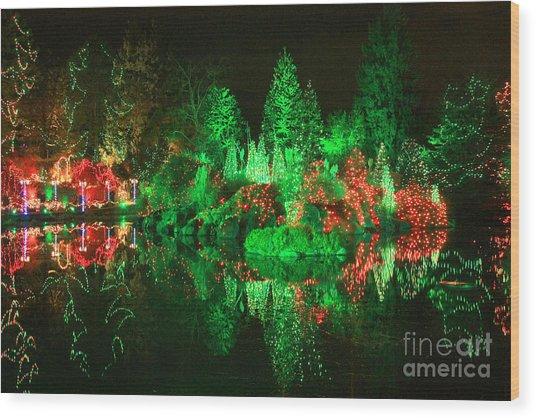 Christmas Fantasyland Wood Print by Frank Townsley