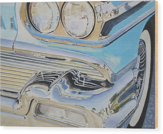 Chrome  Ode To An Olds Wood Print by Patrick DuMouchel