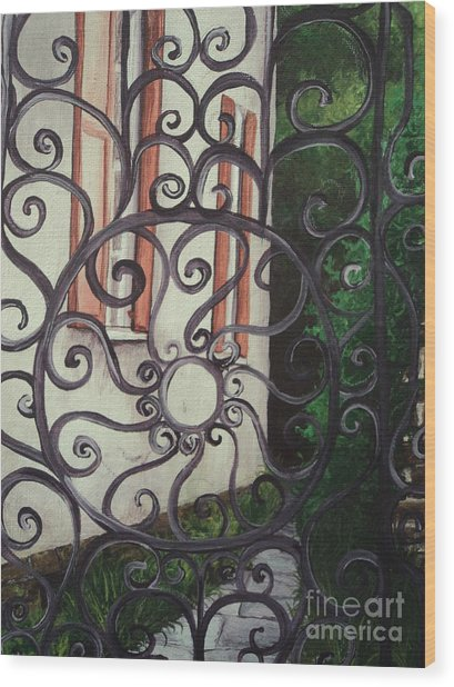 Chuch St. Iron Gate Wood Print by Osee Koger