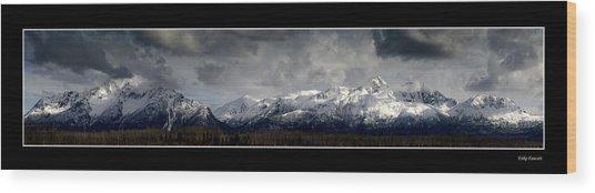 Chugach Mountains Wood Print