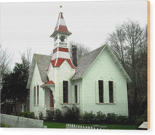 Church In Oysterville Wood Print