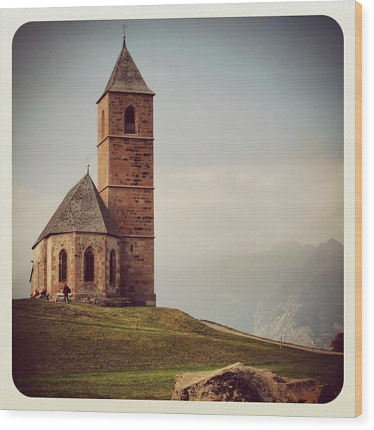 Church Of Santa Giustina - Alto Adige Wood Print