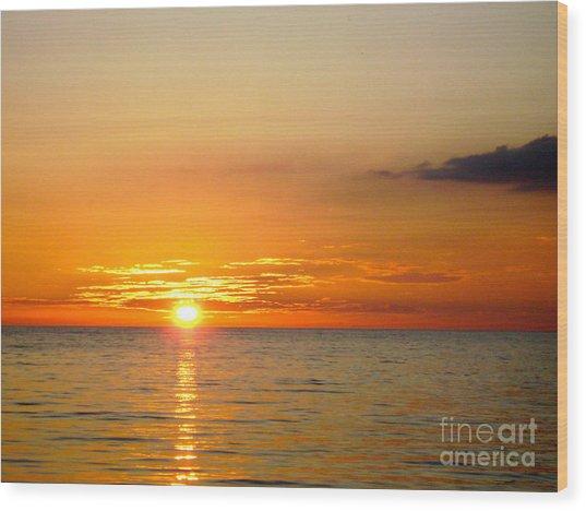Cienfuegos Sunset  Wood Print by Laurel Fredericks