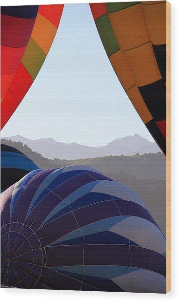 Cimmaron Mountains Wood Print