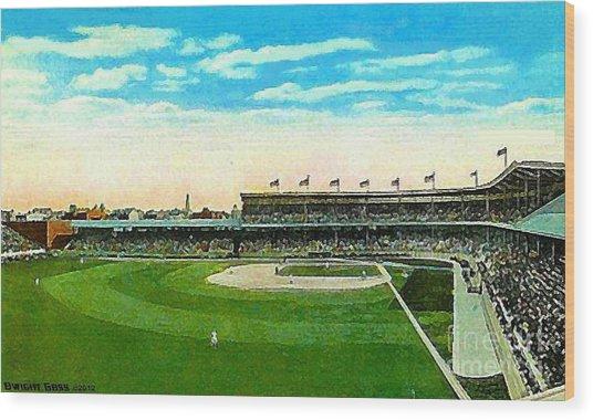 Cincinnati Reds' Redland Field In 1910 Wood Print by Dwight Goss