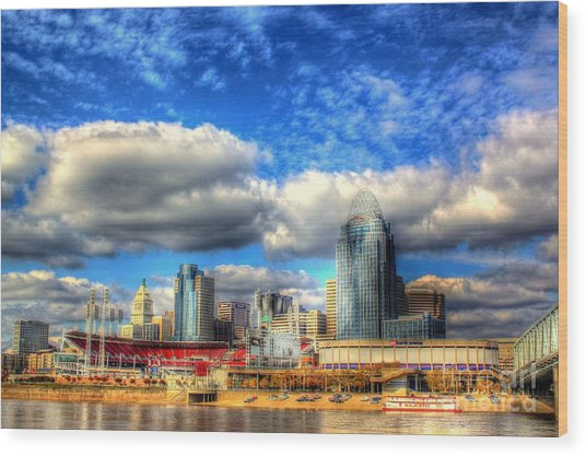 Cincinnati Skyline 2012 - 2 Wood Print