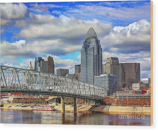 Cincinnati Skyline 2012 Wood Print