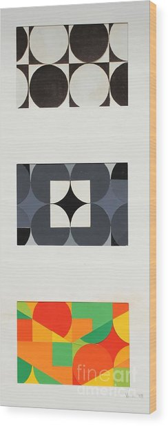 Circle Trio Wood Print