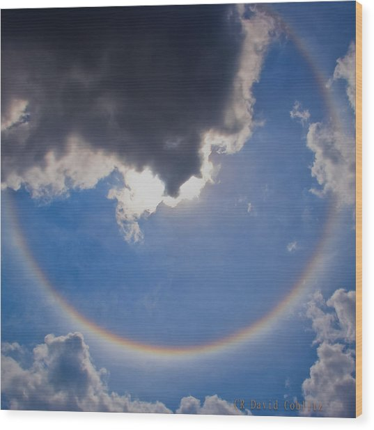 Circular Rainbow - Square Cropped Wood Print