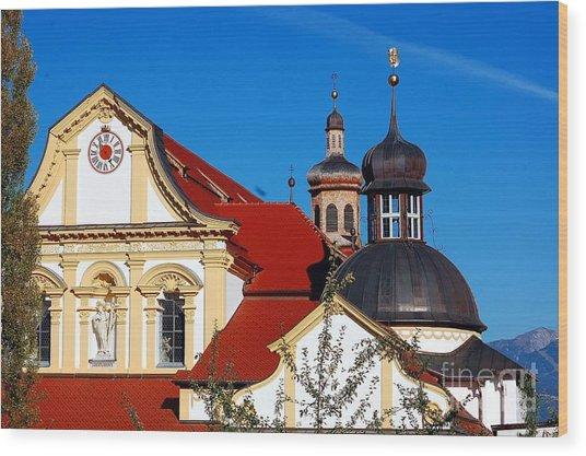 Cistercian's Basilica In Austrian Tyrol Wood Print