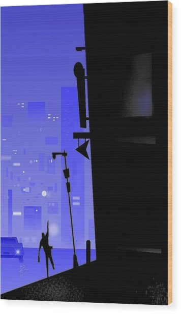 'city Corner' Wood Print by Bryan  Rhoads