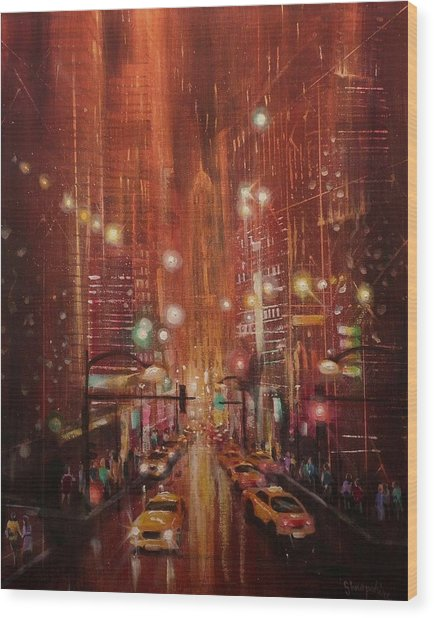 City Lights 2 Wood Print by Tom Shropshire