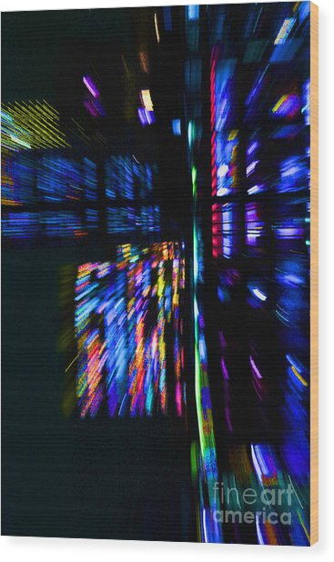 City Lights Wood Print by Urban Shooters