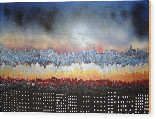 City Never Sleeps Wood Print