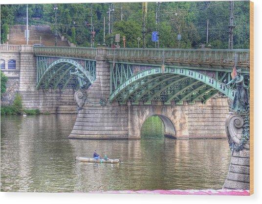 City Of Bridges Wood Print by Barry R Jones Jr