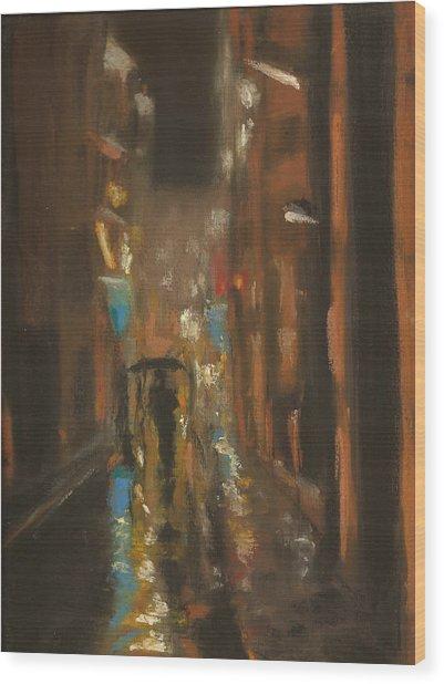 City Rain 7 Wood Print by Paul Mitchell