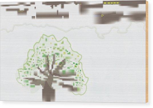 City Tree Wood Print