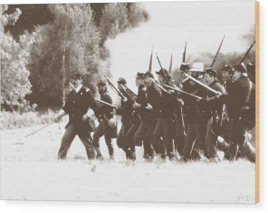 Civil War Charge Wood Print