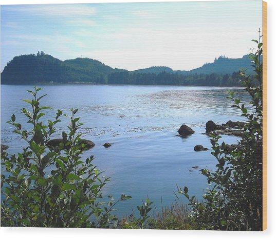 Clallam Bay Wood Print