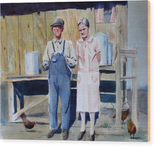 Clarence And Sophyra Hartness Wood Print