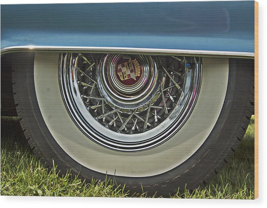 Classic Cadillac Wheel Wood Print