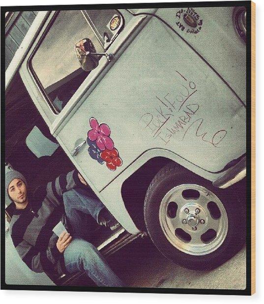 #classic #cars #vw #bus #me #model Wood Print