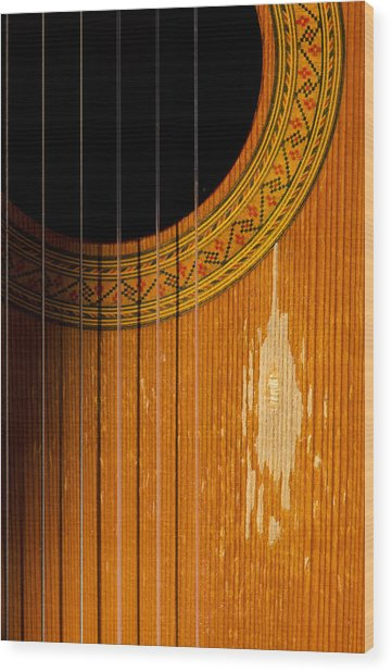 Classical Spanish Guitar Wood Print
