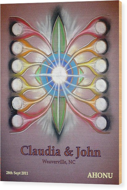 Claudia And John Wood Print