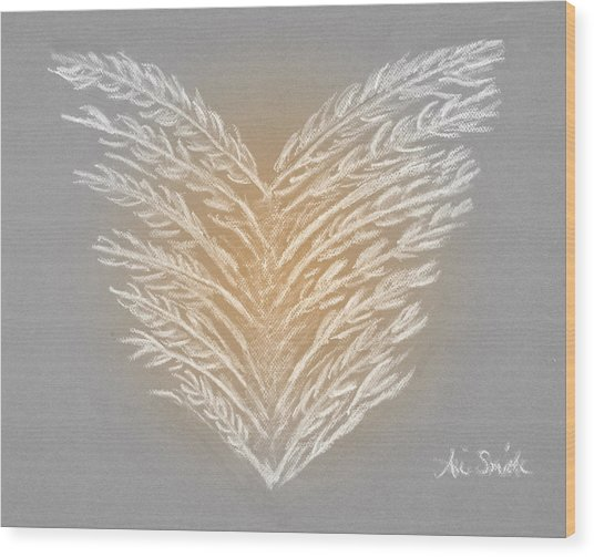 Clean Heart Version 2 Wood Print by Ani Todd Smith