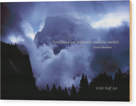 Clearing Storm Half Dome Wood Print