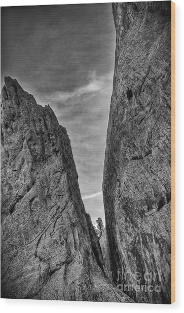 Cleft Of The Rock II Wood Print by David Waldrop