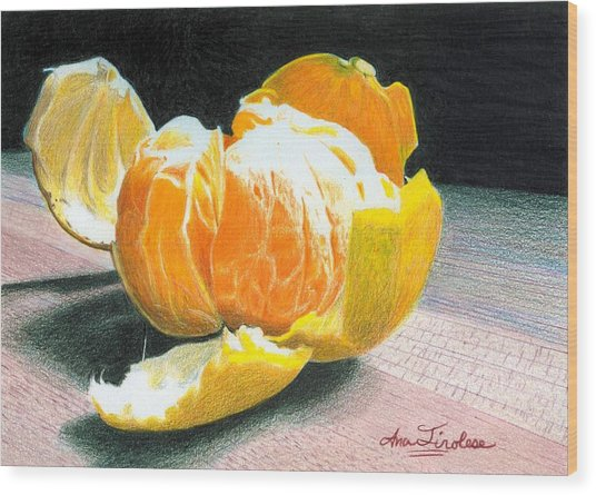 Clementine Wood Print
