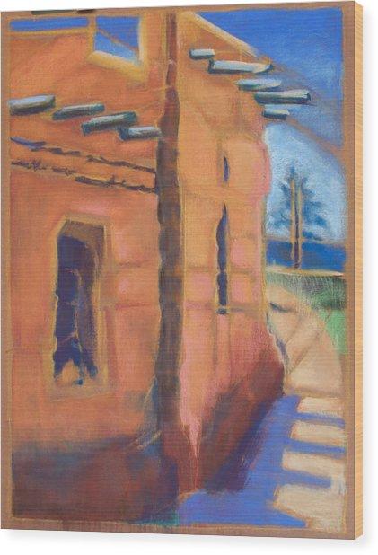 Cliff Dwelling Los Alamos New Mexico Wood Print