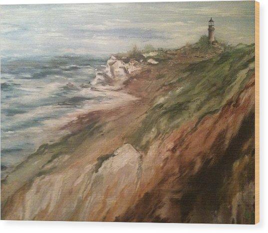 Cliff Side - Newport Wood Print