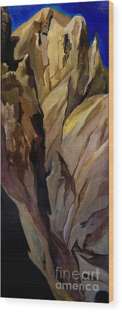 Cliff Tunnel Wood Print