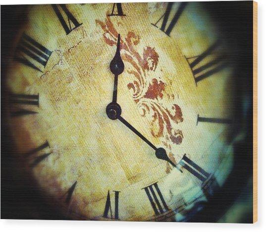 Clock 1010 Wood Print