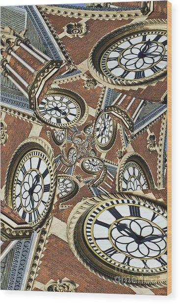 Clocked Wood Print