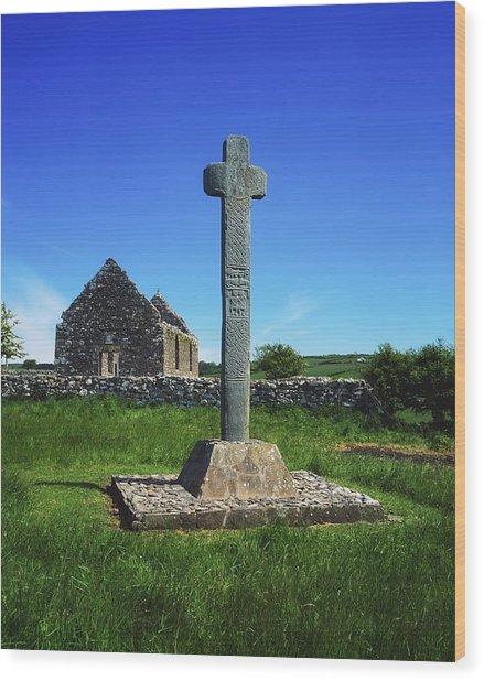 Cloncra Church, Inishowen Peninsula Wood Print by The Irish Image Collection