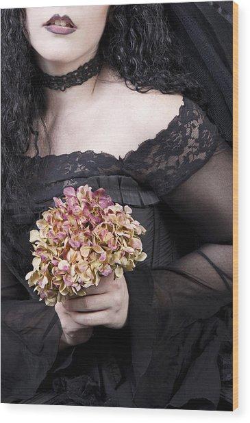 Close Up Of Beautiful Young Woman Wood Print