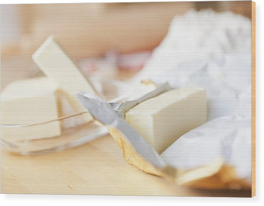 Close Up Of Unwrapped Stick Of Butter Photograph by ...