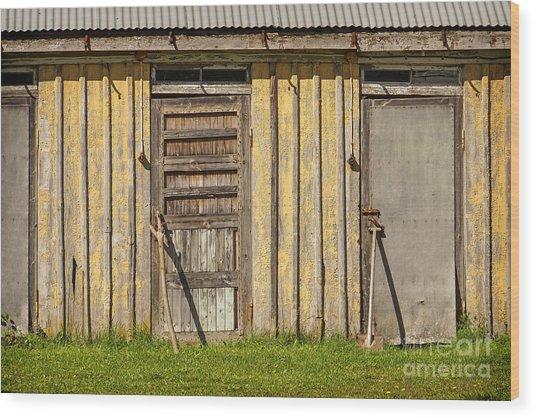 Closed Doors Wood Print by Lutz Baar