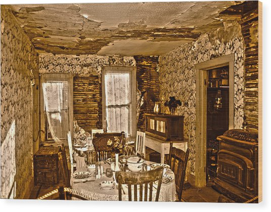 Wood Print featuring the photograph Closed For Renovations by Judy Hall-Folde