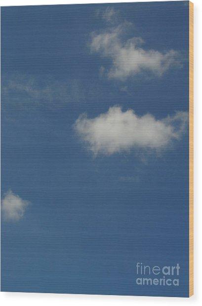 Cloud 007 Wood Print by Lyle Bonn