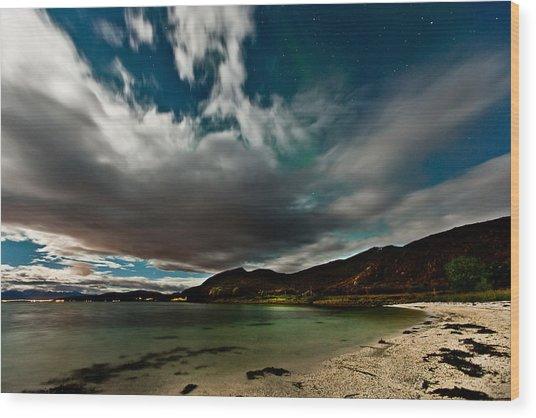 Cloud And Auroras Wood Print by Frank Olsen