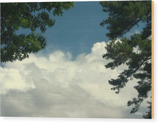 Clouds At Malletts Bay Wood Print by Mark Holden