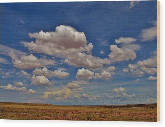 Clouds Wood Print by Sara Edens